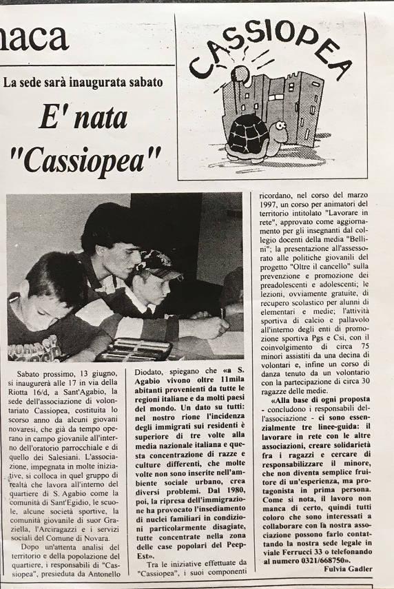 È nata cassiopea 13/06/1997