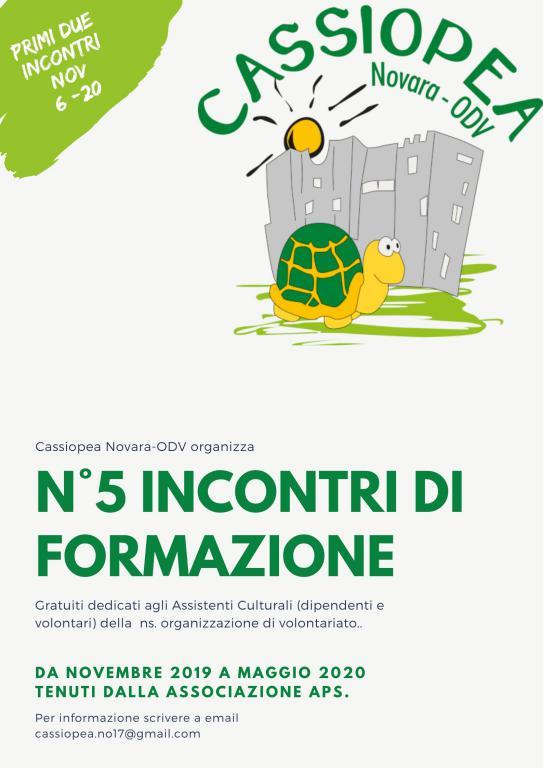 Incontri di Formazione Cassiopea 2019-2020