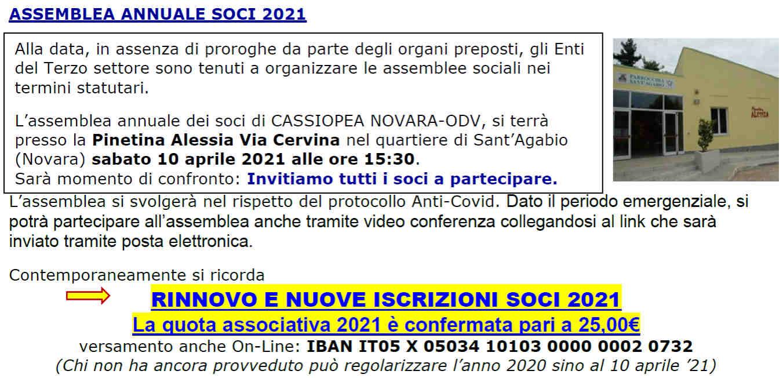 Assemblea Annuale Soci 2021